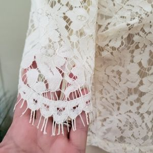 Topshop Tops - Topshop   8 sheer lace Ivory dress top blouse